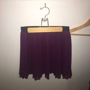 Purple pleated skirt