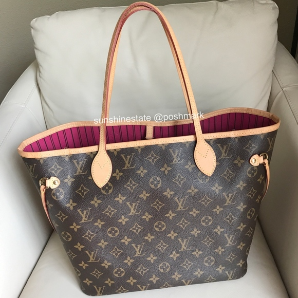 Louis Vuitton Handbags - Authentic 2017 Louis Vuitton Neverfull MM monogram af3eb2dd88