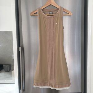 NIKE Nude Pleated Tennis Dress - Women's XS, NEW