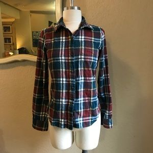 The North Face women's flannel shirt