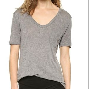 T by Alexander Wang Classic Pocket Tee Gray