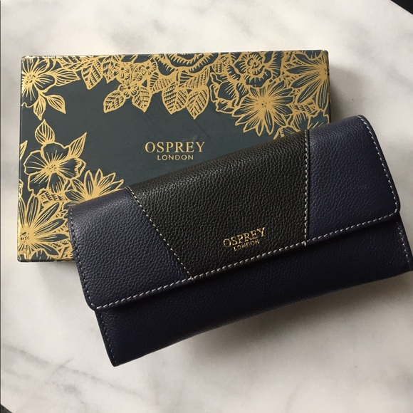 Osprey London Bags | Nwt Navy And Black Wallet
