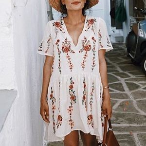 Zara dresses floral embroidered dress medium white poshmark zara dresses zara floral embroidered dress medium white mightylinksfo