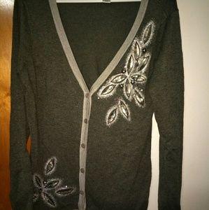 ❄Christopher & Banks Embellished cardigan