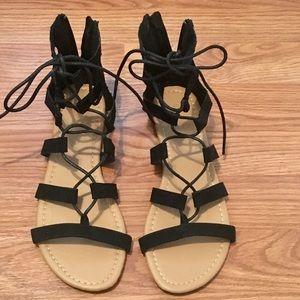 Brand New Charlotte Russe suede gladiator sandals