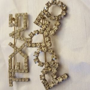 Jewelry - Rhinestone Brooches TEXAS and RODEO