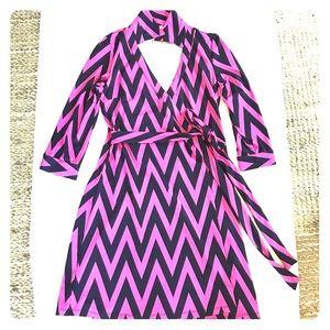 Julie Brown Wrap Dress, Size: small / petite
