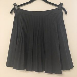 Theory wool mini pleated skirt charcoal gray