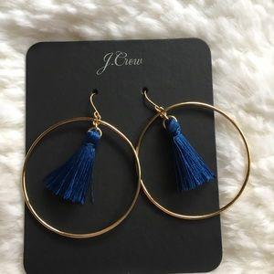 J. Crew Fringe Hoop Earrings