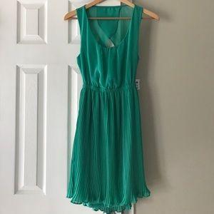 Charlotte Russe Open Back Pleated Dress Medium