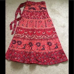 Wonderful Indian Wrap Skirt