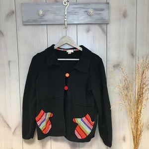 Cardigan Button Christmas Mitten Sweater
