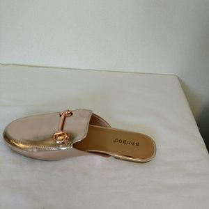 FLAT- Gold Slide with Gold Buckle