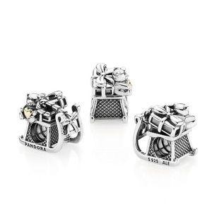 58d93fbd3 Pandora Jewelry - PANDORA 14K & Silver Santa's Sleigh Charm