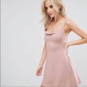 ASOS PETITE Mini Cowl Swing Dress