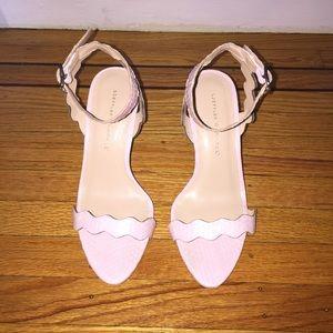 Loeffler Randall wedge sandal in pale pink
