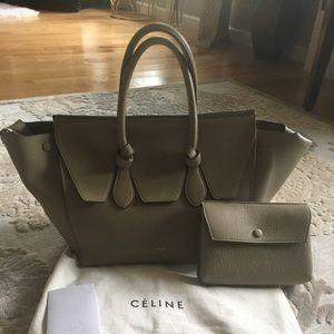 Celine Large Tie Knot Tote/Bag - Tan/Cream
