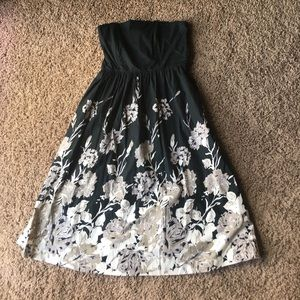 Sz 9 Anthropologie strapless dress