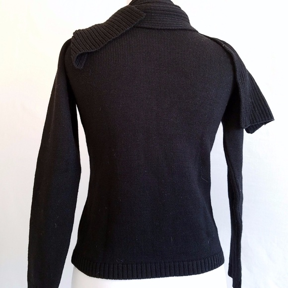 80% off Berretti Sweaters - Berretti M Sweater Solid Black Scarf ...