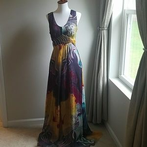 Flowing Multicolored Maxi Dress