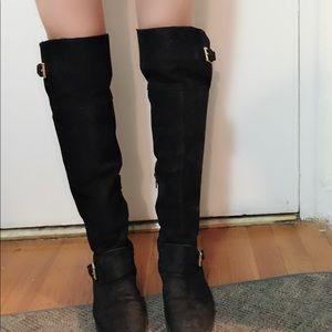 Lauren by Ralph Lauren over the knee leather boots