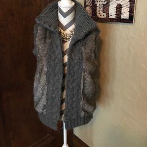 Zara Knit Wear | Faux Fur Vest size M