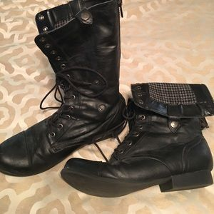 Forever 21 Lace Up/Fold Down combat style boots