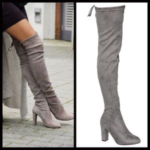 Shoes - GOING FAST‼️ Gray Over the Knee Boots