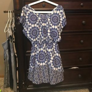Blue and purple Neely dress