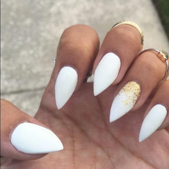 Designer Nails By Katherine Accessories White Stilettos Uv Gel