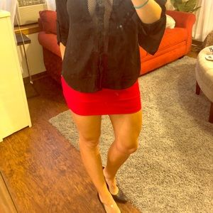 Guess sexy red body con mini skirt