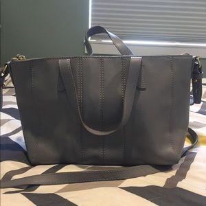 J. Crew leather gray purse