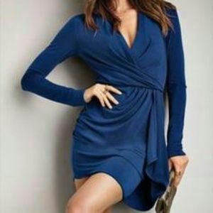 Victoria's Secret faux wrap long sleeve dress XS