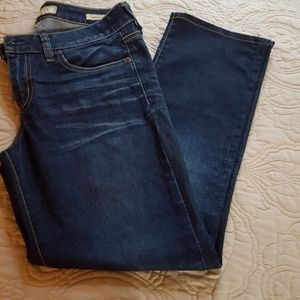 Women's jeans dark denim short length