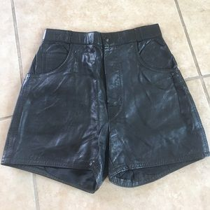 Real Vintage Leather high waist shorts
