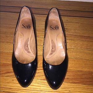 Sofft black patent heels