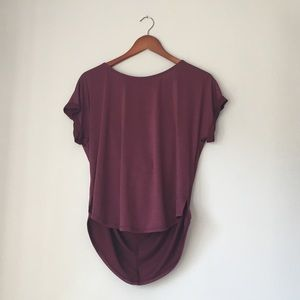 Scoop back Plum Colored Blouse