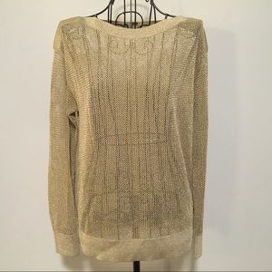 Michael Kors Loose Knit Mesh Sweater Top