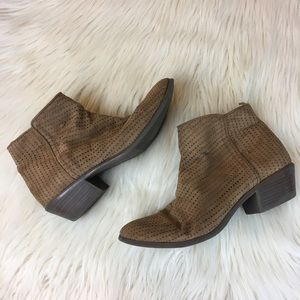 Old Navy Women's Tan Ankle Booties Size 8