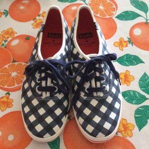 Kate Spade/Keds Gingham Print Sneakers