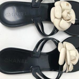 Chanel Camilla Jelly Flip Flops