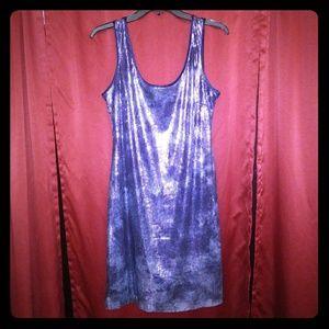 Size 10 Ladies Sequin Blue Dress