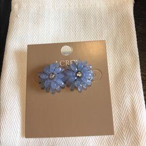 NWT J.Crew Dahlia burst earrings, pale periwinkle