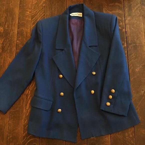 Vintage DVF Blazer Navy