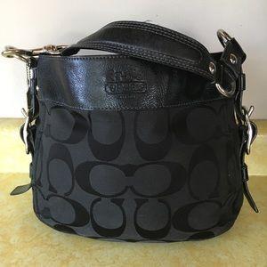 Coach Black Signature C Shoulder Bag