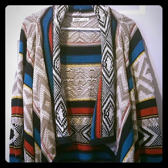 44% off Old Navy Sweaters - Woman's NWOT Old Navy Aztec Sweater ...