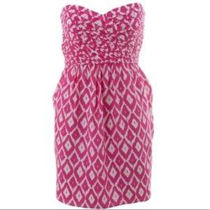 Shoshanna Pink Printed Sweetheart Dress (size 6)