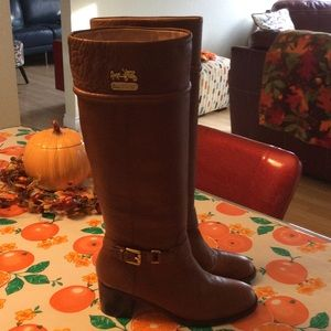 Coach Camel Brown Leather Boots