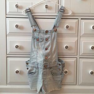 H&M Light wash overalls