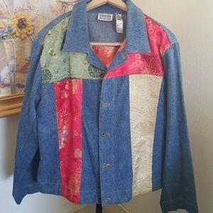 Asian fusion Jean jacket